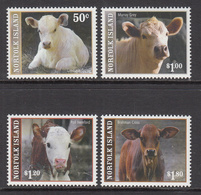 2007 Norfolk Island   Farm Animals Babies Calves Complete Set Of 4 MNH - Isola Norfolk