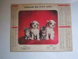 1973 ALMANACH DES PTT Calendrier Des Postes HAUTE-MARNE 52 - Calendars