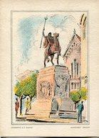 MONUMENTO A EL GAUCHO - MONTEVIDEO. URUGUAY TARJETA CARTE NON CIRCULEE CIRCA 1950's  -LILHU - Uruguay
