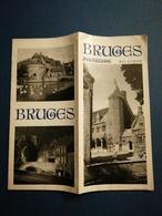 BRUGES ZEEBRUGES BELGIQUE BEAU DÉPLIANT TOURISTIQUE ANCIEN - Dépliants Touristiques