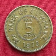 Guyana 5 Cents 1972 KM# 32 *V2  Guiana - Guyana