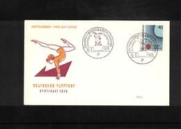 Germany / Deutschland 1963 Gymnastics - Deutsches Turnfest Stuttgart Interesting Cover - Gymnastik