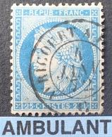 """R1615/643 - CERES N°60A - Cachet AMBULANT """" AVRICOURT à PARIS """" Du 4 JANVIER 1872 - BON CENTRAGE - 1871-1875 Cérès"""
