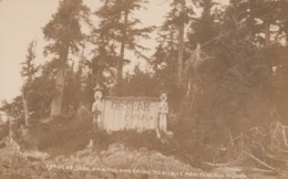 Tuxakan Alaska Grave Of Skah-owa Fire-Eating Medicine Man Shaman, C1900s/10s Vintage Case #364 Real Photo Postcard - United States