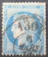 """R1615/645 - CERES N°60A - Cachet BUREAU DE PASSE """" 1307 """" (DIJON) - 1871-1875 Cérès"""