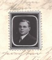 1913.- Postzegel Met Gepersonaliseerde Foto / Timbre En Papier De Photo Avec Photo Personnalisée Sur Une Carte Postale - Timbres