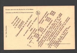 Reclame Kaart Voor Abonnementen Bij De Belgische Spoorwegen / Carte Publicitaire Abonnements Chemins De Fer Belges - Publicité