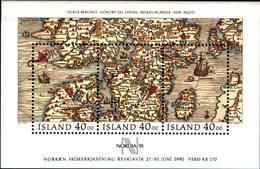 "6500B) ICELAND - ISLANDA - BF - 1991 - ""NORDIA '91"". Esposizione Filatelica Reykjavik-MNH** - Francia"