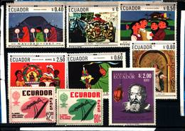 6501B) Lotto Di Francobolli Dell'ecuador-MNH** - Francia