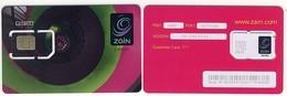 GSM SIM Carte Avec Puce___ZAMBIA Africa___Zain (mint With Number) - Zambie