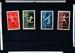 6502B) 1938 LITUANIA LIETUVA OLIMPIADI -LITUANA 4 VAL-MNH** - Lituania