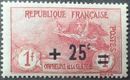 R1615/666 - 1922 - AU PROFIT DES ORPHELINS DE LA GUERRE - N°168 NEUF** - Cote : 70,00 € - Ongebruikt