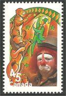 Canada Circus Cirque Clown Lion Tigre Tiger Tigger Dompteur Tamer MNH ** Neuf SC (C17-59ia) - 1952-.... Regering Van Elizabeth II