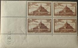 R1615/677 - 1930 - MONT SAINT MICHEL - BLOC N°260 TIMBRES NEUFS** CdF Daté - Cote : 250,00 € - 1930-1939