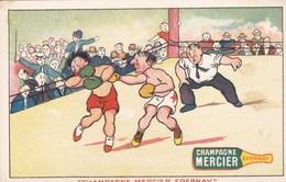Cartes Postales,match De BOXE ,champagne Mercier (lot 140) - Boxing
