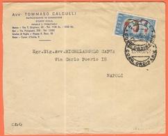 ITALIA - ITALY - ITALIE - 1958 - 25 Europa Cept - Avv. Tommaso Calculli - Viaggiata Da Matera Per Napoli - 1946-60: Storia Postale