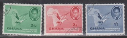 GHANA Scott # 1-2, 4 Used - Kwame Nkrumah, Map & Palm Nut Vulture - Ghana (1957-...)