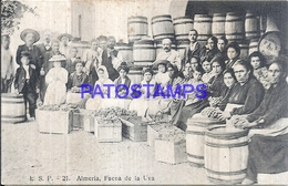 117654 SPAIN ESPAÑA ALMERIA ANDALUCIA COSTUMES FAENA DE LA UVA POSTAL POSTCARD - Sin Clasificación