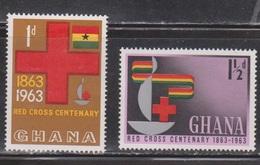 GHANA Scott # 139-40 MH - Red Cross Centenary - Ghana (1957-...)