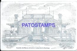 117661 SPAIN ESPAÑA SANTIAGO DE COMPOSTELA ART PABELLON DEL RECREO ARTISTICO E INDUSTRIAL POSTAL POSTCARD - Spanje