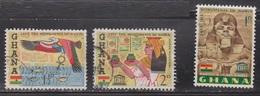 GHANA Scott # 151-3 Used - Save The Monuments Of Nubia - Ghana (1957-...)
