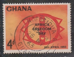 GHANA Scott # 136 Used - Africa Freedom Day - Ghana (1957-...)