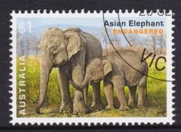 Australia 2016 Endangered Wildlife $1 Asian Elephant CTO - - Gebraucht