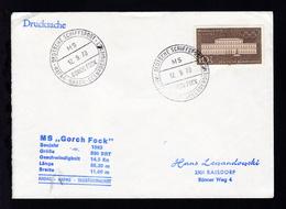 DEUTSCHE SCHIFFSPOST MS GORCH FOCK HAPAG-HADAG-SEEBÄDERDIENST 12.9.70 + Cachet - Unclassified