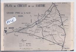 AUTOMOBILE- PLAN DU CIRCUIT DE LA SARTHE- GRAND PRIX DE L AC F 1906 - Le Mans