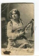 261901 Marietta COLOMBO Virtuoso W/ Mandolin AUTIGRAPH Vintage - Chanteurs & Musiciens