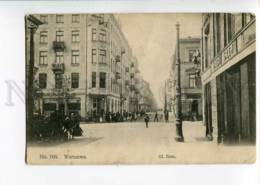 271091 POLAND WARSZAWA Zlota Street 1917 Year RPPC Petersbug - Pologne