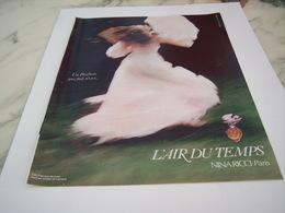 ANCIENNE PUBLICITE PARFUM  AIR DU TEMPS DE NINA RICCI  1977 - Perfume & Beauty