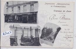 BLOIS- IMPRIMERIE RENE BRETON- RUE DENIS-PAPIN - Blois