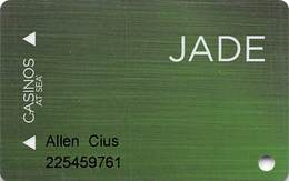 Norwegian Cruise Line - Jade Casinos At Sea Card With P778550-2 On Reverse Copyright 2016 - Casinokarten