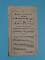 GULDEN Jubeleum Aan Zeer Eerwaarde Moeder THERESIA ( Jufvrouw Maria LOGIER ) Passchendaele 1862 ( Zie/voir Photo ) 1934 - Religione & Esoterismo