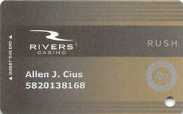 Rivers Casino - Des Plains, IL USA - Slot Card - Casino Cards