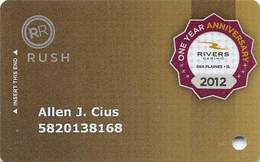 Rivers Casino - Des Plains, IL USA - 1 Year Anniversary Slot Card - Casinokarten