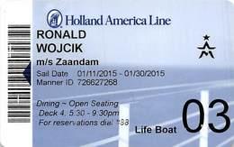 Holland America Line - Cruise Ship ID Card / Room Key - Cartes D'hotel