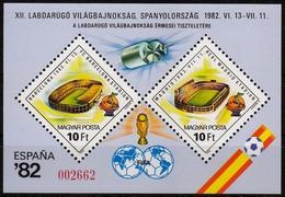 Ungarn MiNr. Bl. 155 A I ** Fußball Weltmeisters. Spanien Mit Zusätzl. Inschrift - Ungebraucht