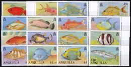 Anguilla MiNr. 815/30 ** Freimarken: Fische - Anguilla (1968-...)