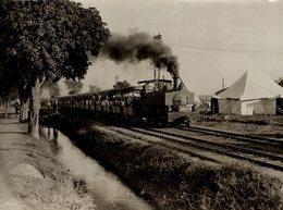 INDE INDIA DUNBAR CAMP AT DELHI BRITISH   LIGHT RAILWAY CHEMIN DE FER 21*16CM Fonds Victor FORBIN 1864-1947 - Trains