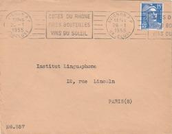 Avignon (Vaucluse) : Flamme Vantant La Qualité Des Vins De Côtes Du Rhône. (TTB) - Marcophilie (Lettres)