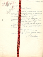 Brief Lettre - Notaris Henri Voet  Aalter - Naar Kadaster 1927 + Brief Met Antwoord - Vieux Papiers