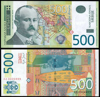 SERBIA - 500 Dinara 2007 UNC {Narodna Banka Srbije} {Perefix AA000....} UNC P.51 - Serbia