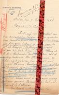 Brief Lettre - Brouwers Dewitte & De Bruyne   Aalter - Naar Kadaster 1928 + Brief Met Antwoord - Vieux Papiers