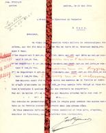Brief Lettre - Jos Rysenaer - Rijsenaer Aalter - Naar Kadaster 1924 + Brief Met Antwoord - Vieux Papiers