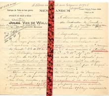 Brief Lettre - Memo Veuve Adolphe Van De Walle Aalter - Naar Kadaster 1927 + Brief Met Antwoord - Vieux Papiers