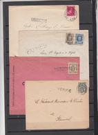 - Lot De   4 Enveloppes  R  Voir Cachets  Avec Griffes - Belgium
