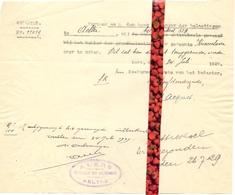 Brief Lettre - Ontvanger Alers - Aalter - Naar Kadaster 1929 - Vieux Papiers