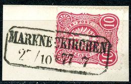 """""""MARKNEUKIRCHEN"""" Nachverwendeter Sachsen Ra 2 Briefstück Nr. 33 - Deutschland"""